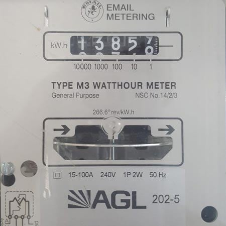 Electricity cyclonic dial meter