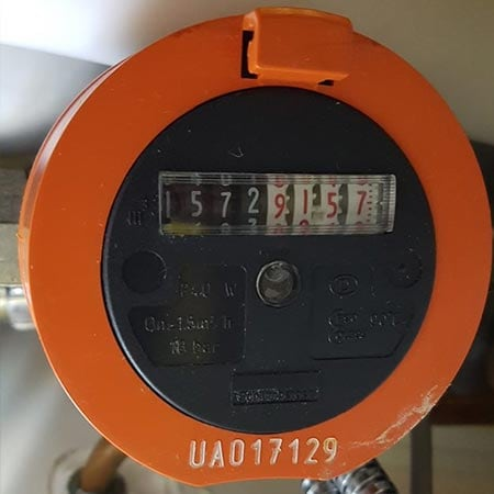 Gas cyclonic dial – hot water meter