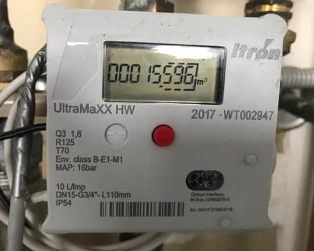 Gas digital meter